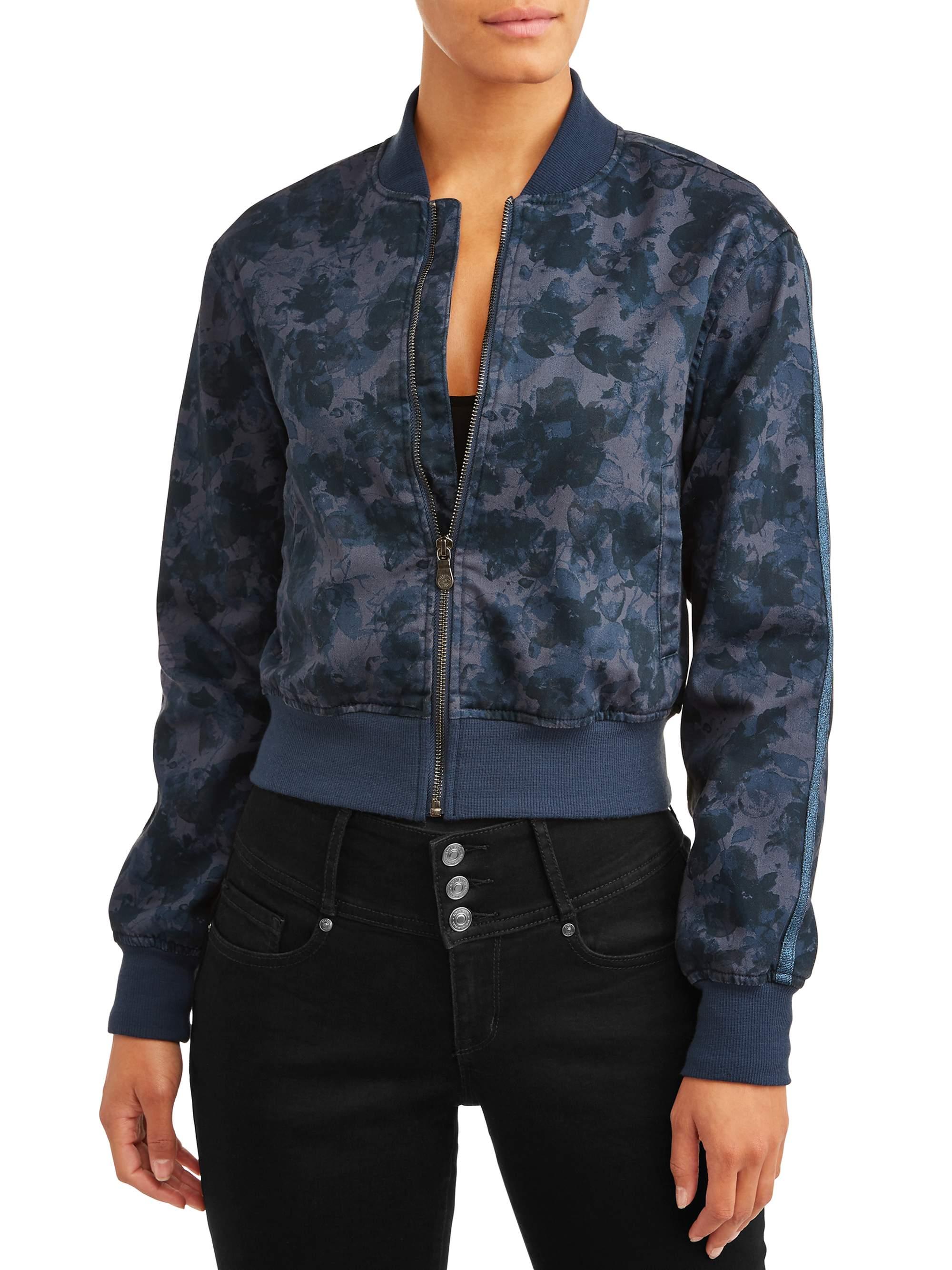 Sofia Vanesa Knit Bomber Jacket Women's (Floral Camo)