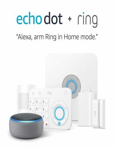 echo dot + ring