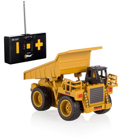 Top Race 15 Channel Full Functional Remote Control Excavator Construction Tractor, Excavator Toy